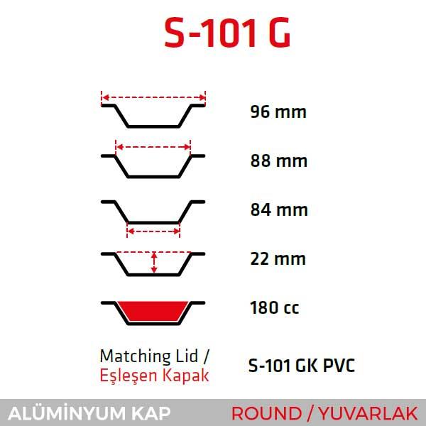 Alüminyum Kap S-101-G