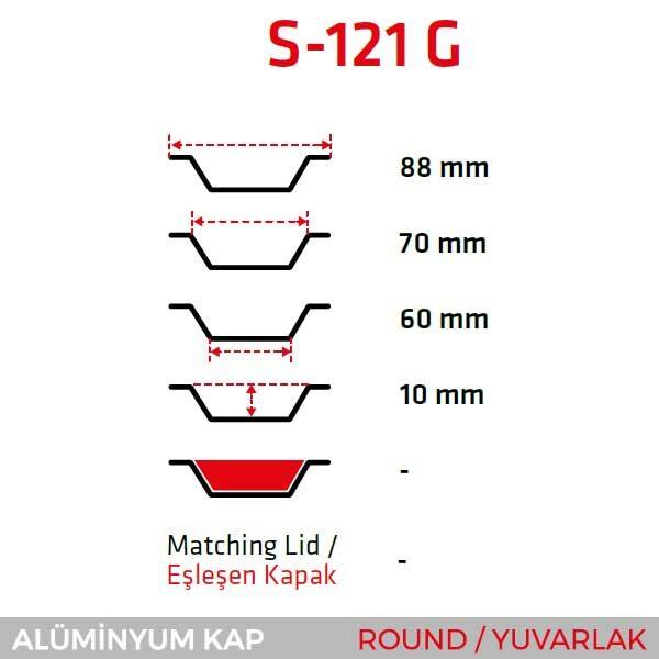 Alüminyum Kap S-121-G
