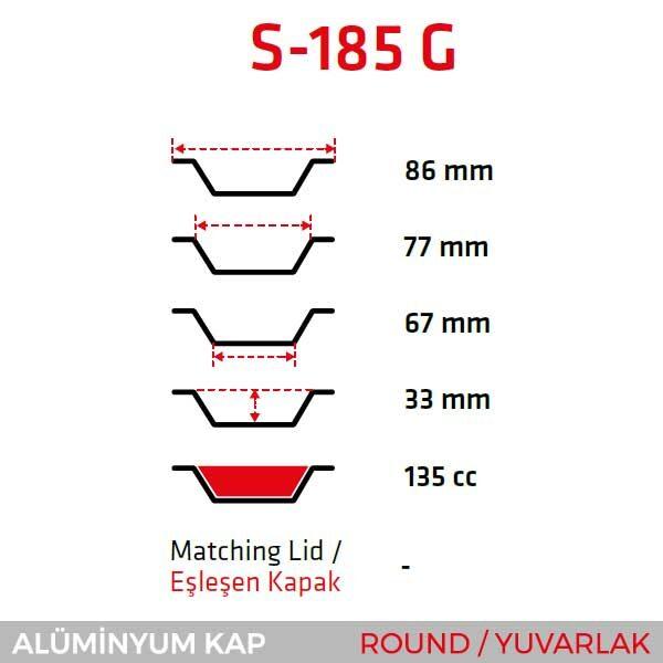 Alüminyum Kap S-185-G