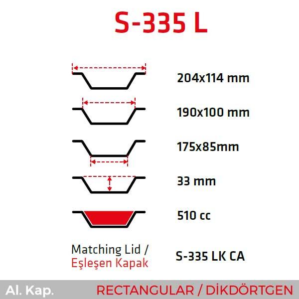 Alüminyum Kap S-335-L
