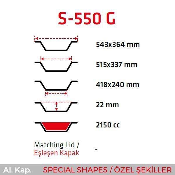Alüminyum Kap S-550-G