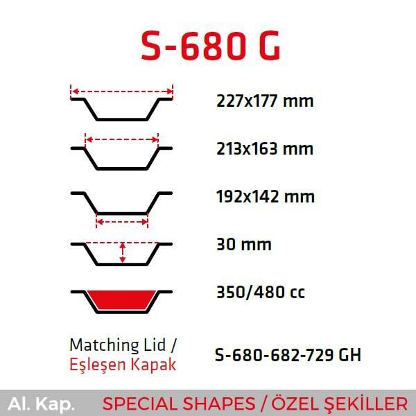 Alüminyum Kap S-680-G