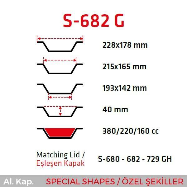 Alüminyum Kap S-682-G
