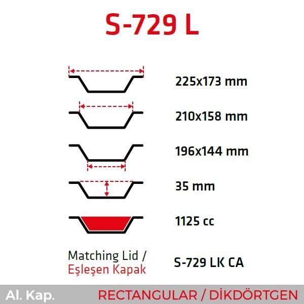 Alüminyum Kap S-729-L