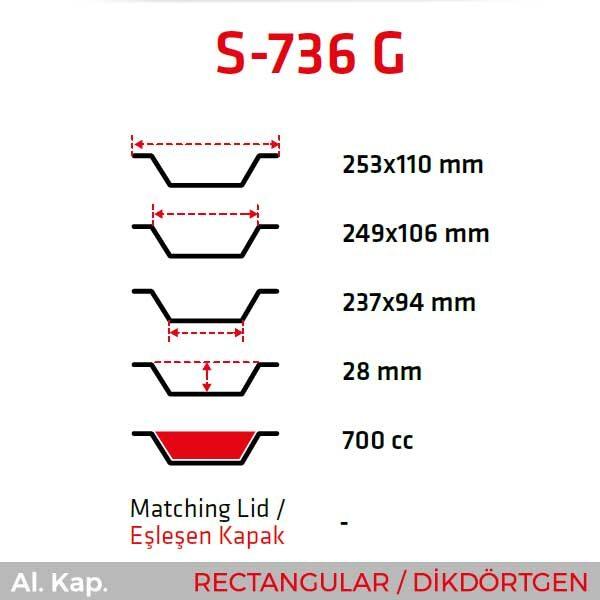 Alüminyum Kap S-736-G