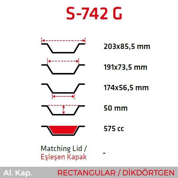 Alüminyum Kap S-742-G