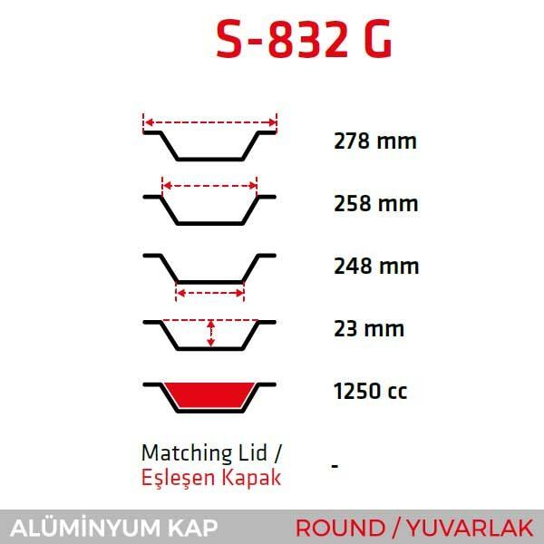 Alüminyum Kap S-832-G