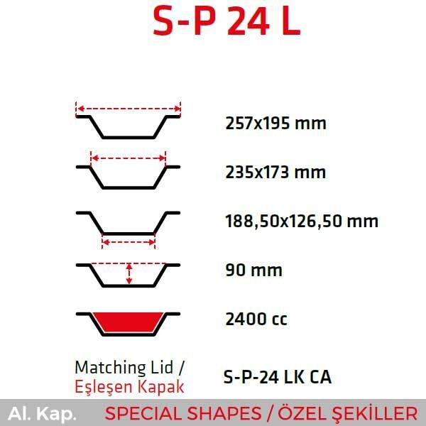 Alüminyum Kap S-P 24 L